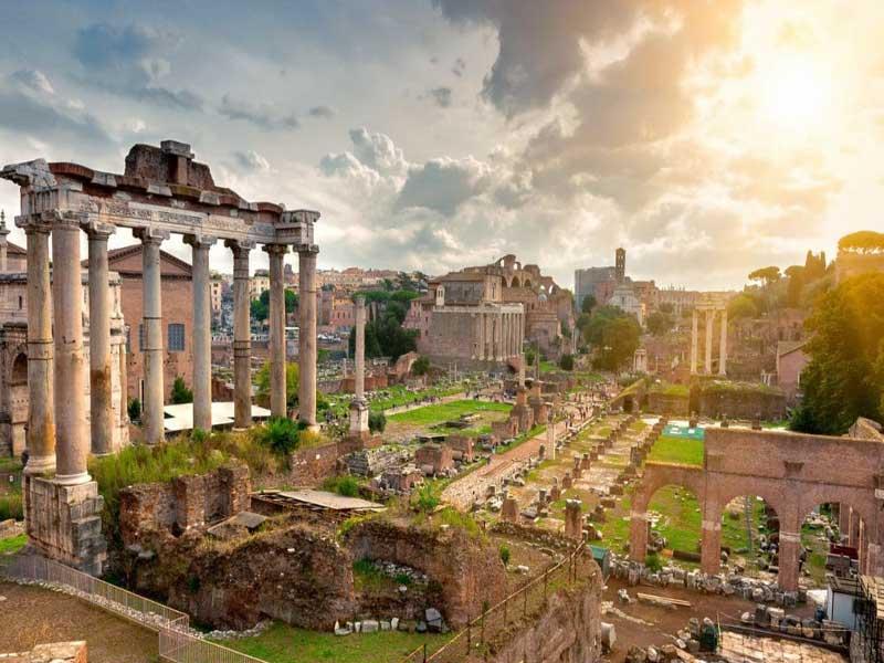Tour por Roma templo de Saturno