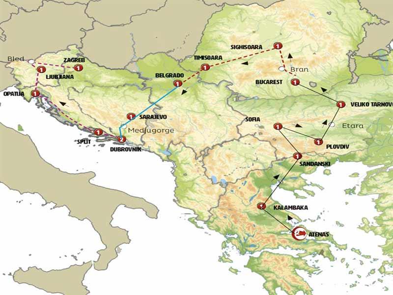 Itinerario de Grecia al Sur de Rumania 9 días