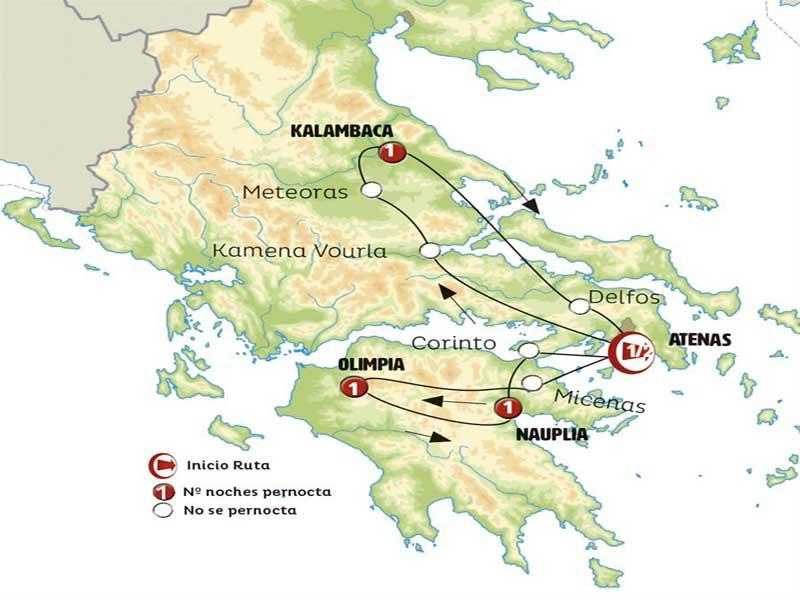 Itinerario Norte y Sur Grecia 7 días