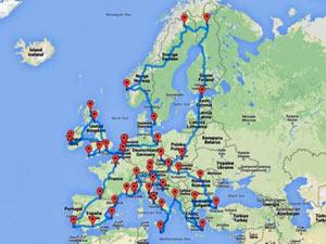 Mapa Europa de circuitos
